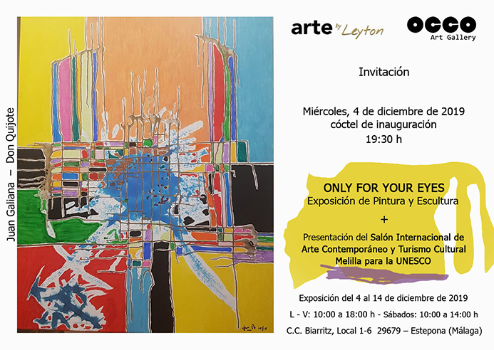 Exposición Only for your eyes en OCCO Art Gallery
