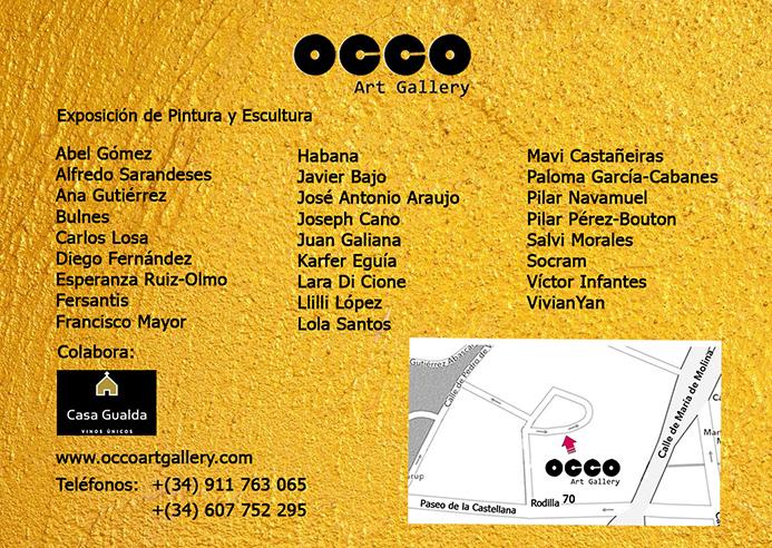 OCCO Art Gallery exposición colectiva de pintura y escultura en Madrid Clasificación: 5 estrellas