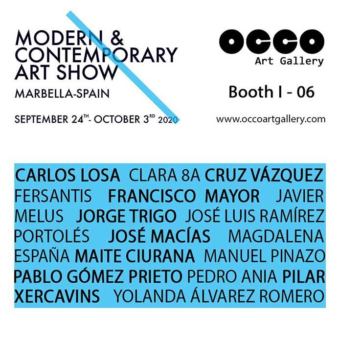 OCCO Art Gallery es una galería de arte, situada en Madrid, cuyo objetivo es difundir el arte en España e internacionalmente. Uno de los medios utilizados es la asistencia a ferias internacionales de arte.