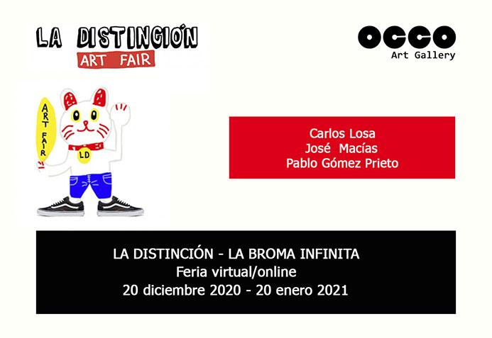 La Distinción – La Broma Infinita, feria virtual online de arte contemporáneo