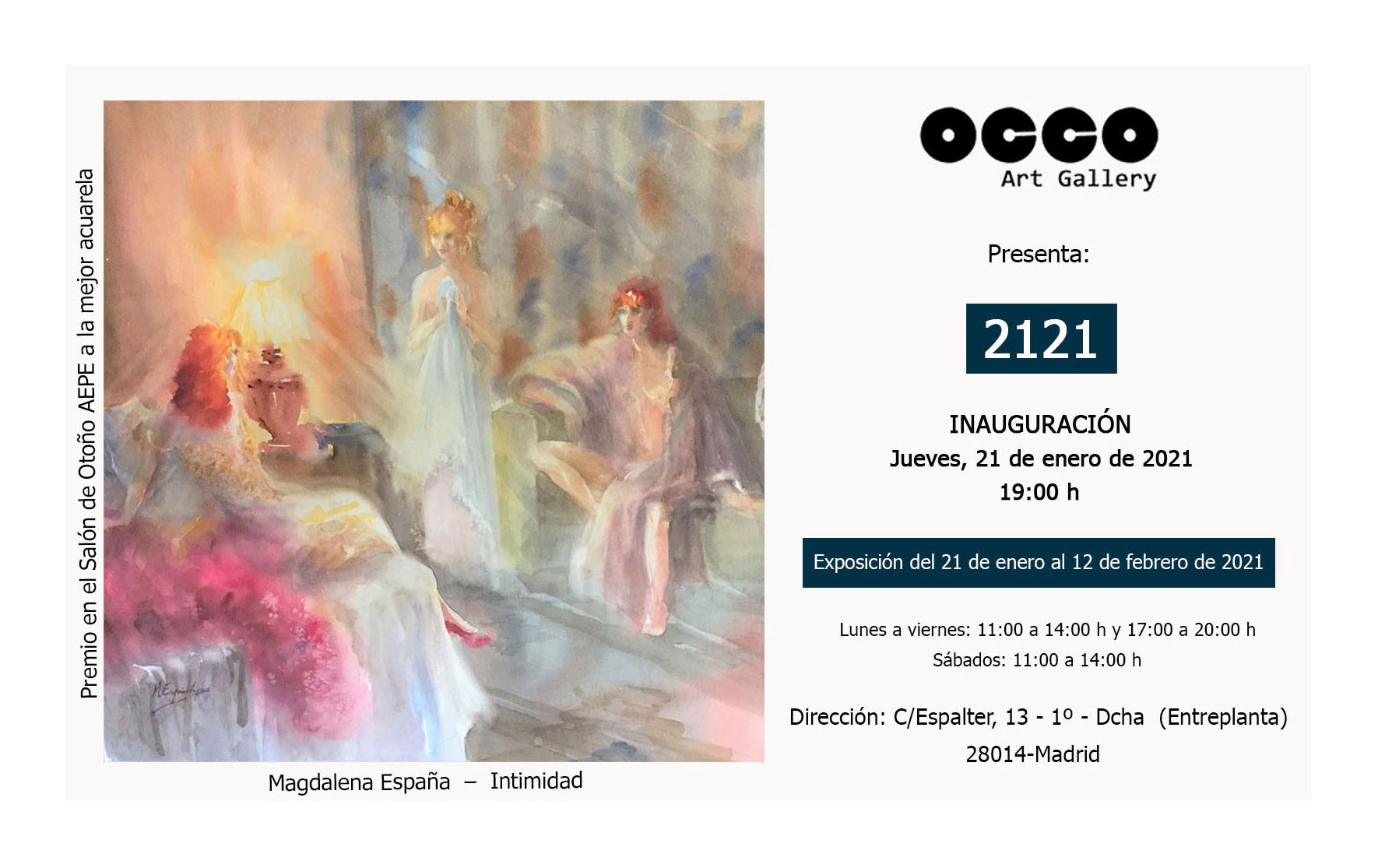 Exposición 2121 en OCCO Art Gallery
