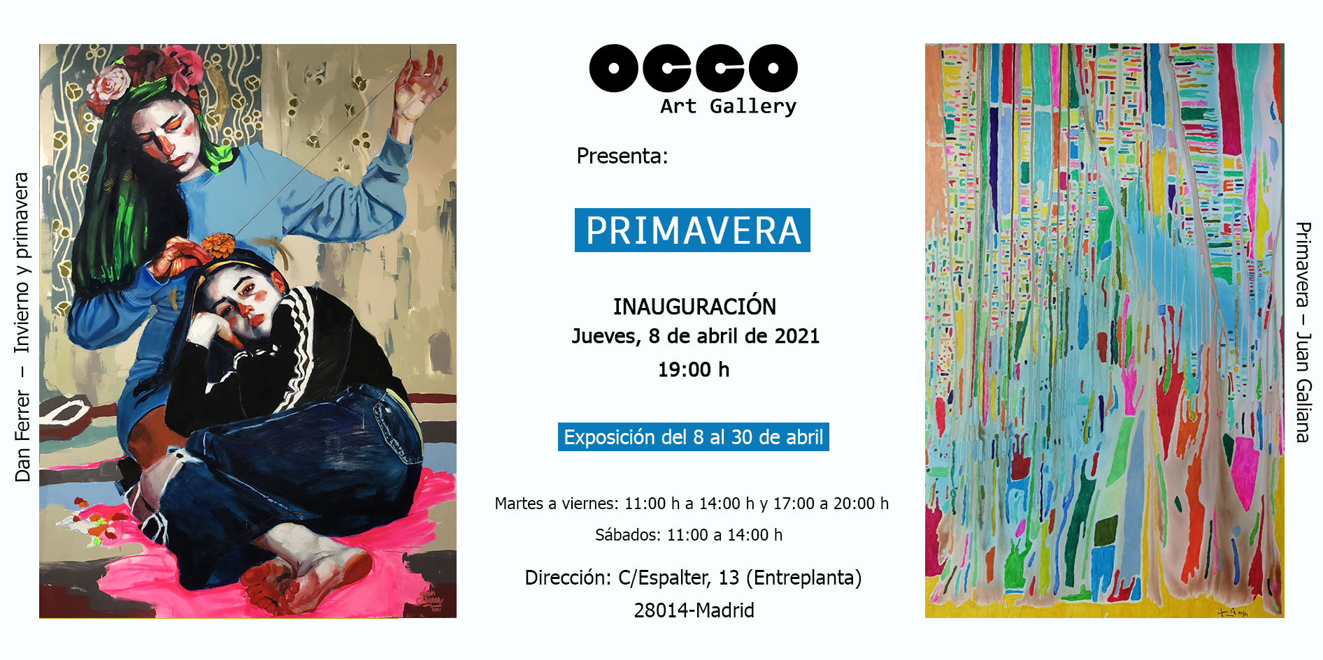 OCCO Art Gallery. Calle Espalter 13. 28014 – Madrid (Spain)